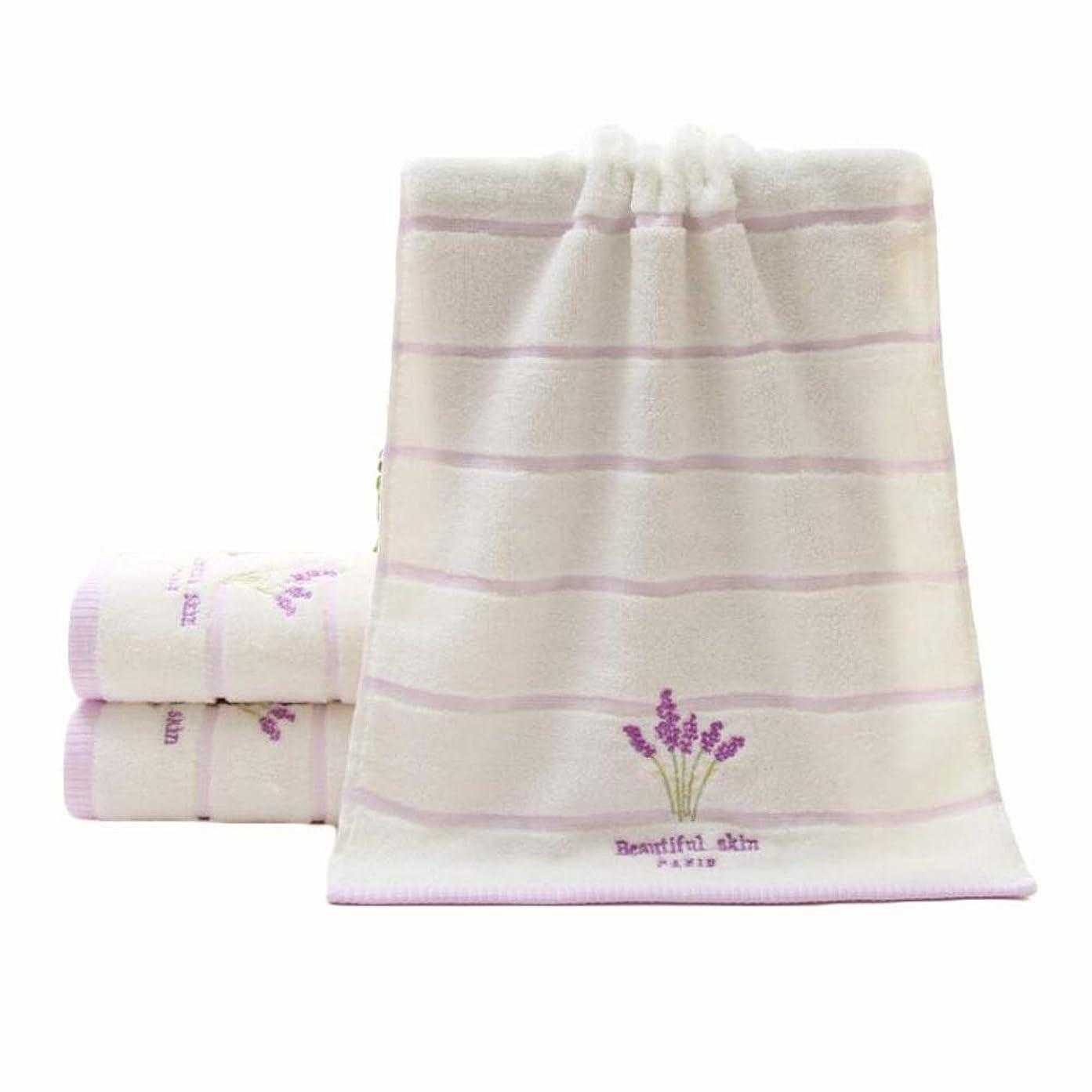 熱狂的なネスト枕CXUNKK 2PCS / LOTホームコットンラベンダー肥厚ソフトスキンタオル (Color : White)
