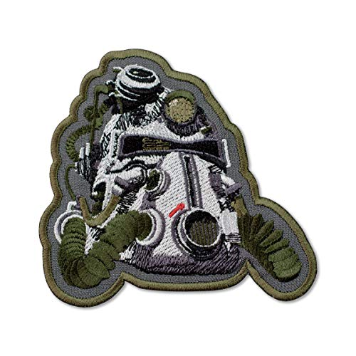 """Fallout 3 T-51b Power Helmet Embroidered Patch Iron On (3.7"""" x 3.5"""")"""