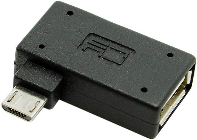 chenyang 90/Degree en /ángulo recto micro usb 2,0/OTG adaptador de Host con alimentaci/ón USB para Galaxy S3/S4/S5/Note2/Note3/tel/éfono celular /& tableta