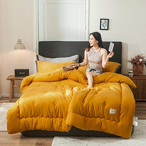 XNSY Duvet Spring and autumn quilt double warm core thin section-turmeric_150*200cm