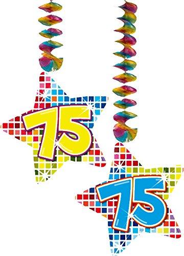 Folat 2X Decken Dekoration * 75. Geburtstag * für Kindergeburtstag // 60875