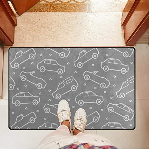 Chic Houses Felpudo para coche, diseño de dibujos animados, alfombra de bienvenida para baño, antideslizante, para puerta delantera, interior y exterior, 78,7 x 50,8 cm 2030386
