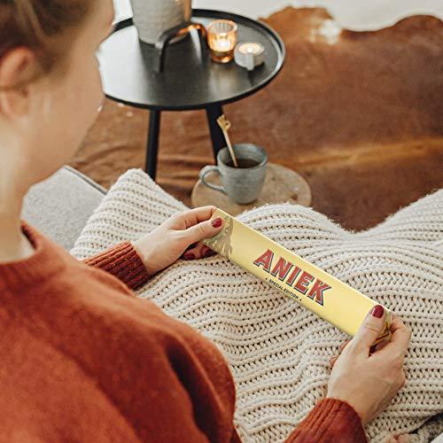 Toblerone personalizado con Nombre - Barra de Toblerone leche y chocolate, miel, almendras y turrón personalizado con Nombre o Texto (M - 200 gramos)
