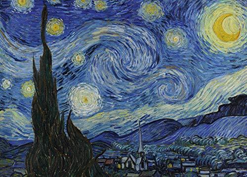 Close Up Póster XXL de Van Gogh Starry Night/La Noche Estrellada (140cm x 100cm) + 1 póster Sorpresa de Regalo