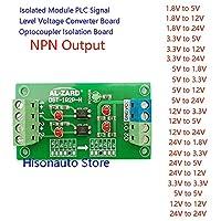 YUXIwang 24V~5V 12V~3.3V 1.8V 2チャンネルオプトカプラ隔離ボードPLC信号レベル電圧変換モジュールNPN出力 (Color : 3.3V to 3.3V)