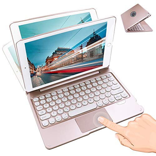 Zanfee Touch iPad Keyboard Case with Trackpad For iPad 8th Generation(10.2 - inch 2020)/7th Gen,Built-in Pen Holder Slim Folio Case Cover with Wireless Bluetooth Keyboard for iPad 2020/2019 10.2 Inch