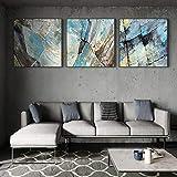 Pintura de lienzo abstracta de acuarela nórdica, carteles impresos, imágenes contratadas modernas para la decoración del hogar de la sala de estar, 50x50cmx3 sin marco