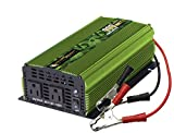 Power Bright 900 Watt 24V Modified Sine Wave Power Inverter, Dual 110V AC Outlet and Cigarette Lighter Charger, Back Up Car Power Supply for Small appliances, Battery Cables with Clamps Included