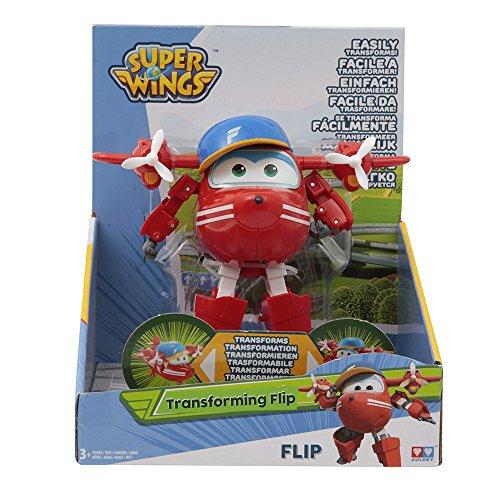 Giochi Preziosi - Super Wings Flip, Personaggio Trasformabile Articolato, 17 x 12 x 20 cm