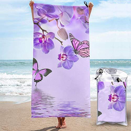 Bathroom Towels Shower Towels Toallas de playa ligeras, mariposa morada Beach Towels 140 X 70