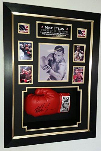 Mike Tyson Firmado Guante con marco de lujo