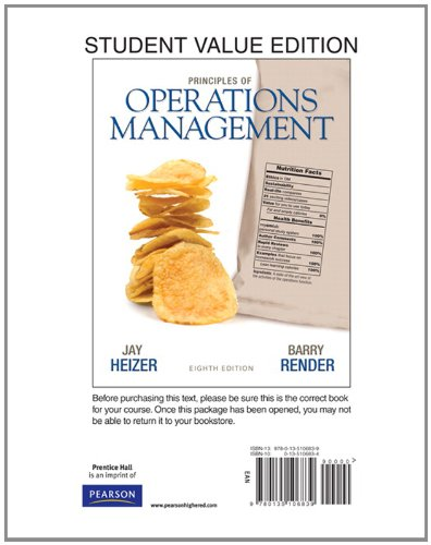Principles of Operations Management, Student Value...