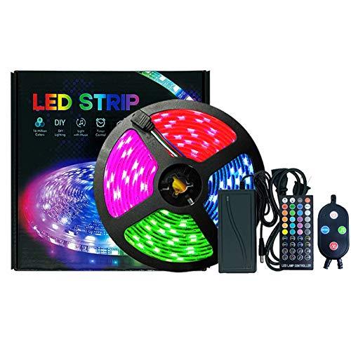Tiras LED,LED Luces de Tiras Regulables Control APP,Luces LED RGB con Control Remoto y Caja de Control,Sincronizar con música,Luces LED para Habitacion Hogar Bar Fiesta , 10M Impermeable
