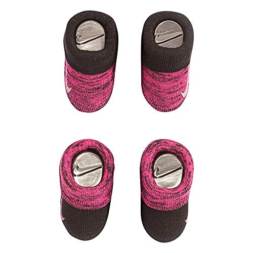 Nike Infant Baby Futura Booties (2 Pair) (Black(LN0051-695)/White/Black, 0-6 Months)