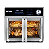 Kalorik MAXX AFO 47631 SS AS SEEN ON TV Air Fryer Oven Grill 26 Quart Digital Smokeless Indoor Grill and Air Fryer Oven Combo with 11 Accessories, Authentic BBQ, 1700W, Rotisserie, and More.
