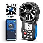 HOLDPEAK 7 in 1 Digital Anemometer Gauge,HP-866B-WM Handheld Air Flow Meter,Wind Speed Meter for Measuring Wind Speed,Temperature and Wind Chill.
