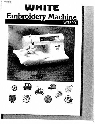 white embroidery machine w3300 - 3