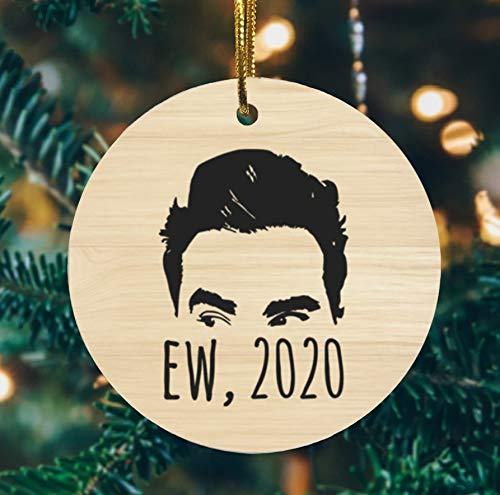 Lplpol Ew 2020 Ew David Rose, Funny David, Printed Holiday,Flat Circle Ornament, Schitt's Creek TV Show Movie Gifts,2020 Rose Family Ornament