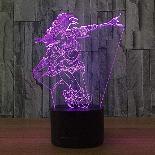 Tatapai Nachtlicht, 3D-Tischlampe, Hallucination, Spielcharakter, Touch-Fernbedienung, 16 Farben, USB-Ladekabel, LED-Nachtlicht für Geburtstags- und Weihnachtsfeiern