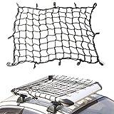 MOCOBO 車用 カーゴネット 120×90cm 黒 フック付き トランクネット ラゲッジネット 荷物固定 荷崩れ防止 キャリア用ネット