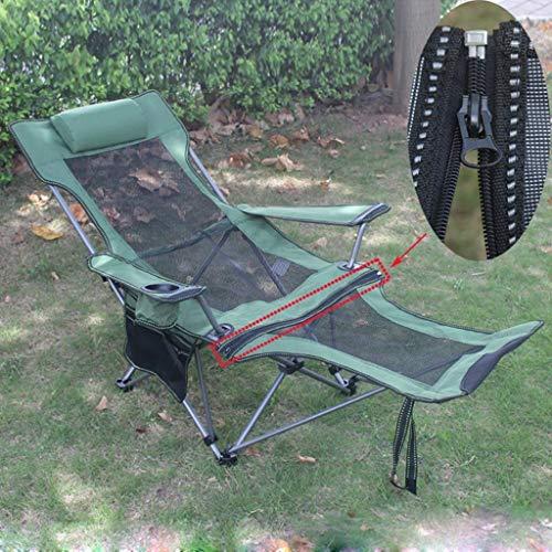 lyf Multifunktionale Freizeit Klappstuhl, tragbare Sonnenliege, ultraleichte Liege, Outdoor Hocker Stuhl mit Rückenlehne Angeln Haushalt