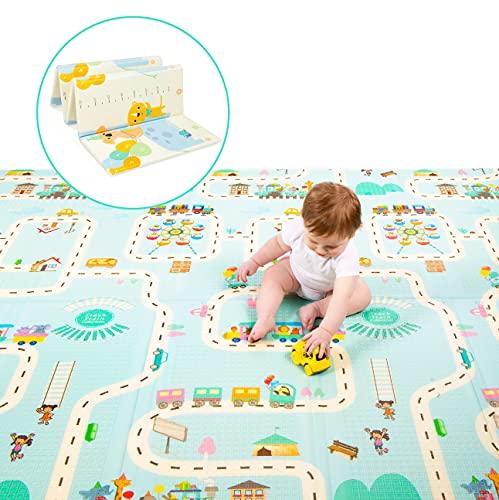 Milliard Tappetino da Gioco per Bambini e Neonati, Tappeto Pieghevole en Schiuma - Impermeabile, Non Tossic, e Reversibile, Antiscivolo Ultra spessore XPE Materiale (Grande 195 x 177 x 1.5 cm)