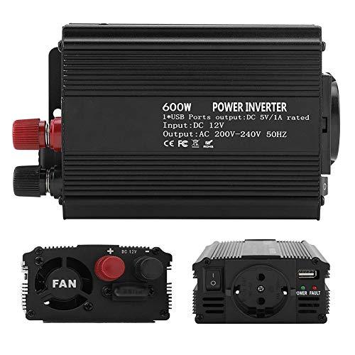 Fdit Inverter-omvormer 12 V omvormer 220 V ~ 240 V 600 W power omvormer met zonnepaneel Sine Wave Inverter DC 50 Hz Solar converter voor gebruik binnenshuis auto