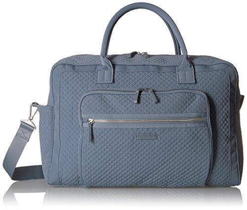 Vera Bradley Women's Microfiber Weekender Travel Bag, Charcoal, One Size