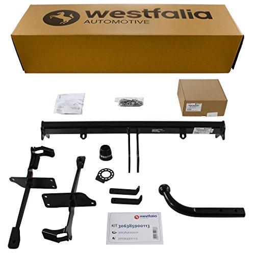 Starre Westfalia Anhängerkupplung für Panda (BJ ab 02/2012) im Set mit 13-poligem fahrzeugspezifischen Westfalia Elektrosatz