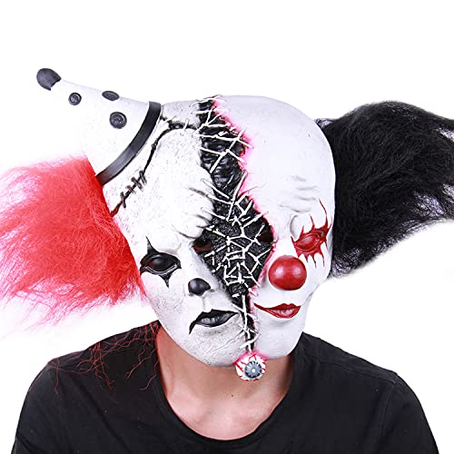 Scary Halloween Masks for Adults, Horror Novelty Realistic Full Head Latex Mask Halloween Costumes Cosplay Props…