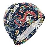 Gebrb Cuffie da Nuoto,Cuffie da Bagno,Cuffia Piscina Cloud Dragon China Japanese Lycra Swi...