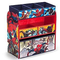 Spider Man shelf unit with open bins