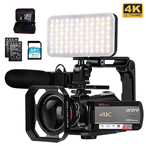 Camcorder 4K Video Camera, ORDRO AC5 UHD...