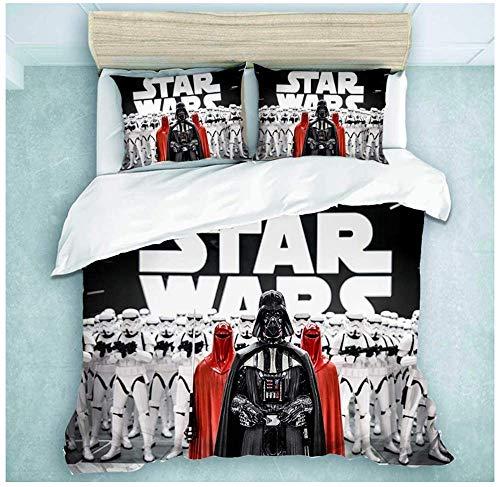 Juego de funda nórdica y funda de almohada Star Wars de Star Wars, juego de cama con sábana bajera ajustable para niños, 09, 200 x 200 cm