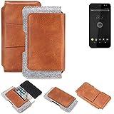 K-S-Trade® Schutz Hülle Für Shift Shift4 Gürteltasche Gürtel Tasche Schutzhülle Handy Smartphone Tasche Handyhülle PU + Filz, Braun (1x)