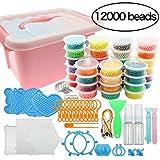 Outuxed Kit di Perle d'Acqua 12000 magiche, 36 Colori, Set di Perle, compatibili con Artig...