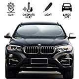 Chanvi Windshield Sun Shade - Sunshades Car Cover Blocks UV Rays Sun Visor Protector Covers (63 X 34 inches) Protect Your Vehicle from UV Sun and Heat.
