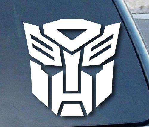 Aufkleber / Autoaufkleber / Sticker / Decal white - Autobot Transformer Car Window Vinyl Decal Sticker 203mm breit