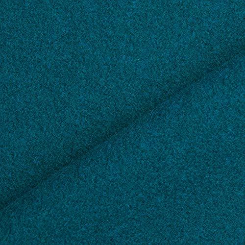 (19,99€/m) Benedict - Wollstoff aus 100% Wolle, schwer & blickdicht, 1. Wahl - Meterware (petrol)