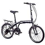 TZYY Compact Bicicletta Pendolare Urbano,Firenze 7 Bici Pieghevoli Leggero per Le Donne Uo...