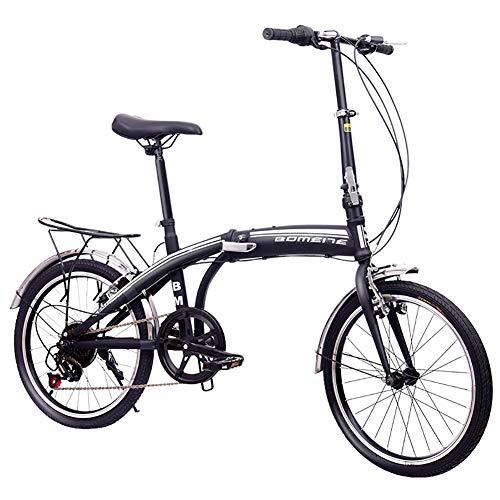 TZYY Kompakte Fahrrad Urban Commuter,7 Gang-schaltung Klapprad Leicht Für Männer Frauen,20in Vollfederung Fahrrad A 20in
