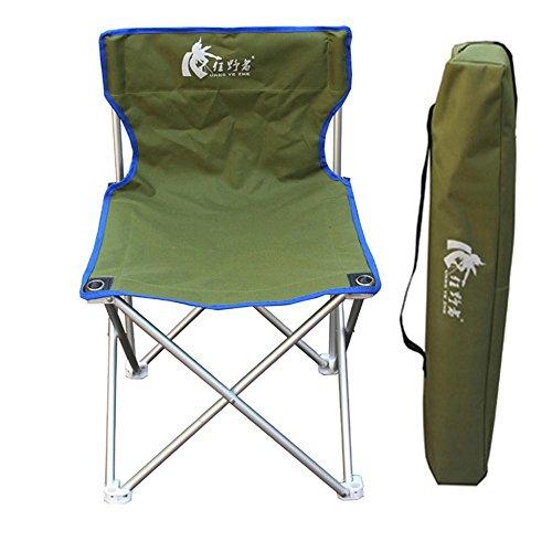 Jack Mall Outdoor Klappstühle Große Aluminium Stühle Portable Strand Stühle Fischen Stühle (Farbe : Green)