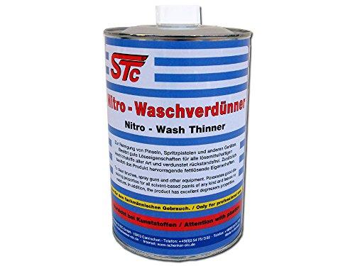 STC Nitro Waschverdünnung 1 L Flasche Reiniger Nitro Wasch Verdünner