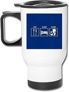 Eat Sleep Road Signs - Taza de café de vacío de doble pared, vaso inoxidable de 16 oz con tapa a prueba de salpicaduras