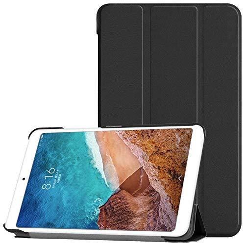 Funda de Cuero con Tapa Inteligente Funda de Soporte para Tableta Sleep/Wake automática Funda Protectora antiarañazos a Prueba de Golpes para Xiaomi Mi Pad 4 8 Pulgadas-Negro