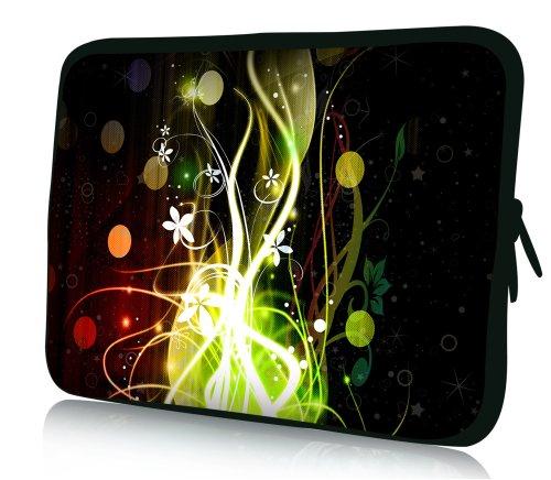 wortek Universal Notebooktasche Schutzhülle aus Neopren für Laptops bis ca. 15,4 Zoll - Ranke Abstrakt Bunt