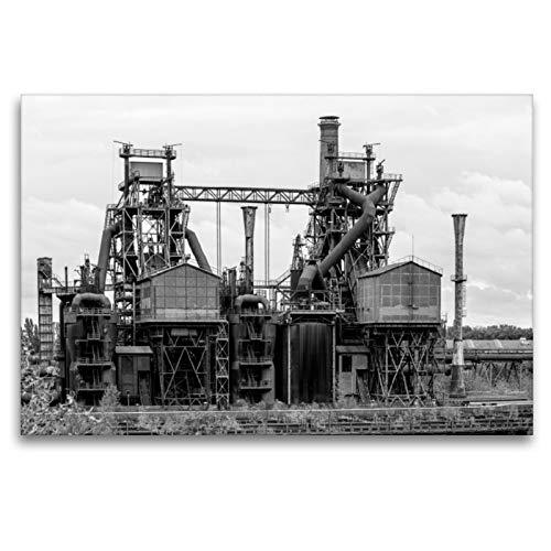 CALVENDO Premium Textil-Leinwand 120 x 80 cm Quer-Format Hochofen im Landschaftspark Duisburg Nord (Duisburg), Leinwanddruck von Thomas Becker