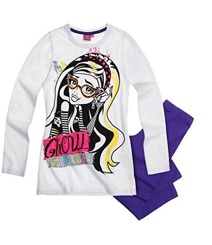 Monster High Mädchen Pyjama/Schlafanzug Ghoul Friends - 128