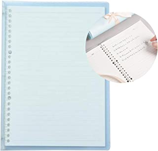 Transparent B5 Refillable Notebook 26 Rings/Holes Loose Leaf Binder Flexible Waterproof PP Cover 30 Sheets Ruled Lined Pap...