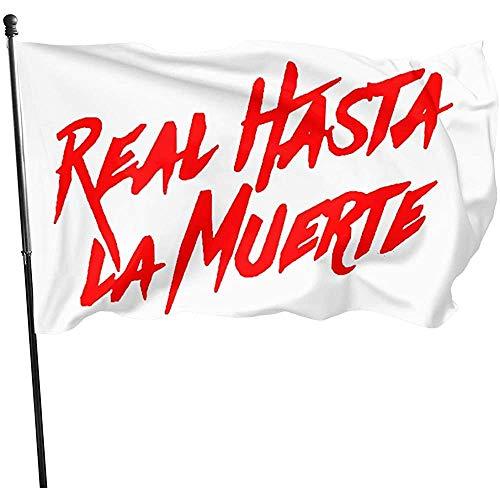 NA Banderas De Jardín,Banderas Al Aire Libre,Decoración del Hogar,Real hasta La Muerte Banner De Decoración,Bandera De La Casa,Bandera Artificial De 3'X5'Ft